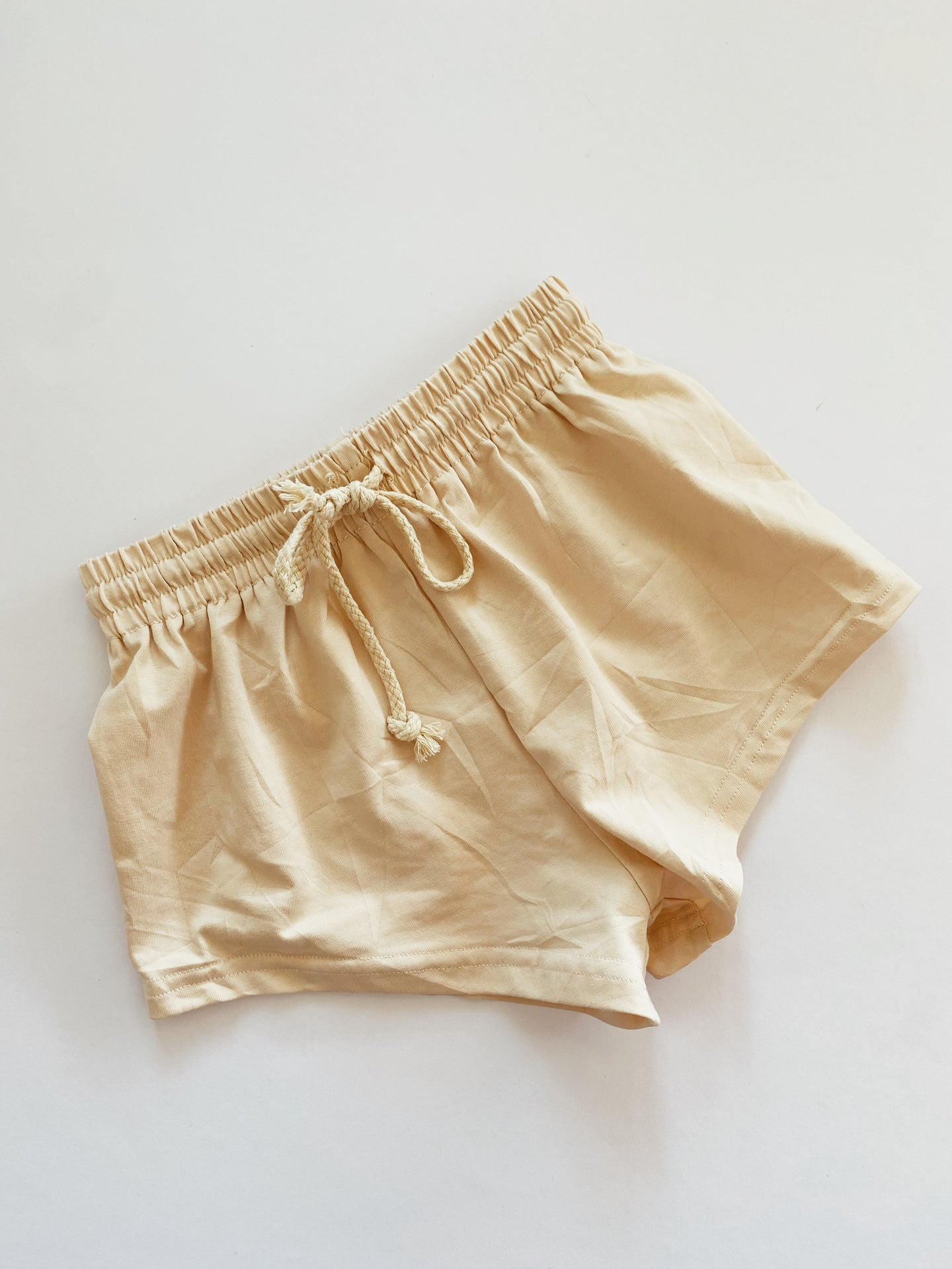 Olie Soft Jersey Shorts Biscuit - Little Indahs