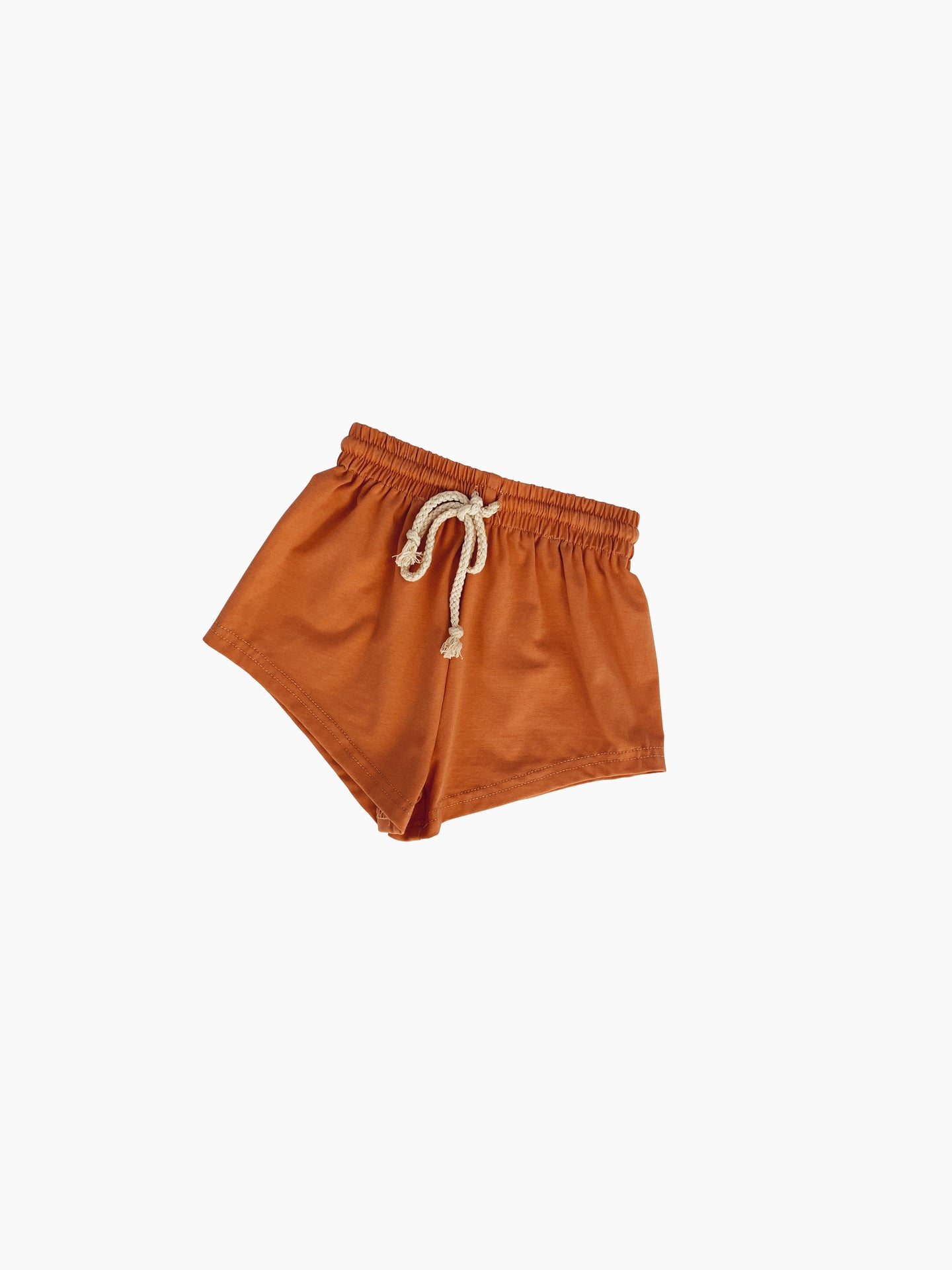Olie Soft Jersey Shorts Rust - Little Indahs