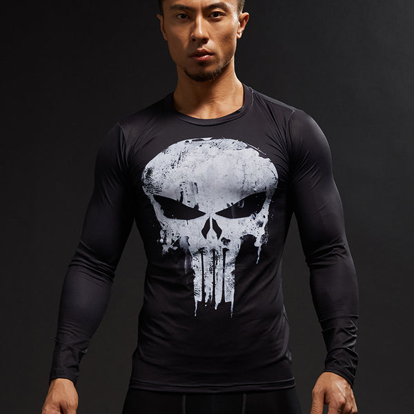 T Shirt de Compression Deluxe The Punisher