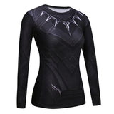 T Shirt de Compression Black Panther Deluxe