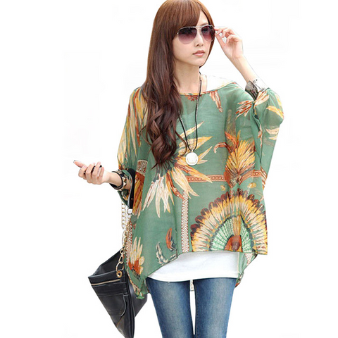 Bazien Collection,Boho Batwing Chiffon Blouse - Many Styles Available,boho,bohemian,boho-chic,fashion