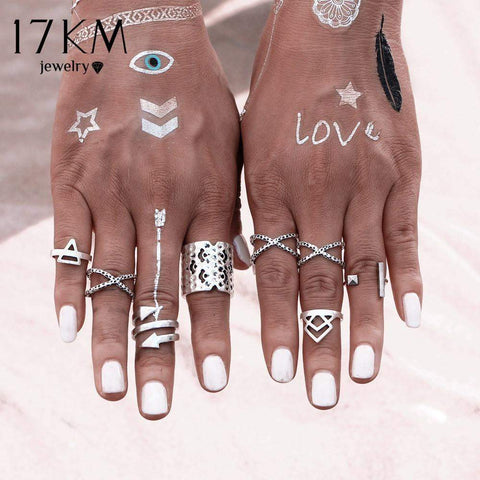 Bazien Collection,8 Piece Infinity Arrow Ring Set,boho,bohemian,boho-chic,fashion