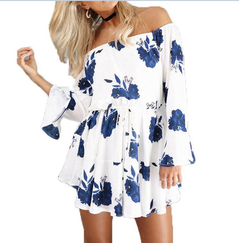 Bazien Collection,Summer Off Shoulder Floral Print Mini Dress,boho,bohemian,boho-chic,fashion