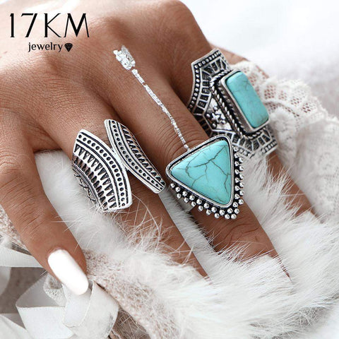 Bazien Collection,3 Piece Anillos Ring Set,boho,bohemian,boho-chic,fashion