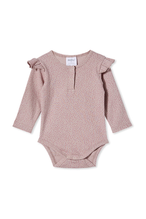 Rib Bubbysuit - Dusty Lilac