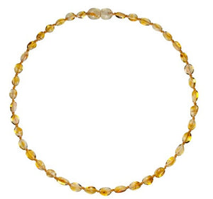 Baby Amber Bud Necklace - Lemon