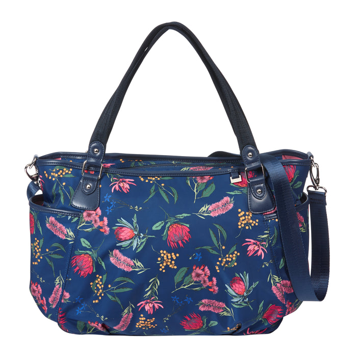 Tote Nappy Bag - Botanical Navy