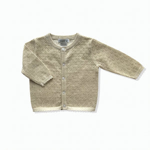Lurex Cardigan - Vintage Gold