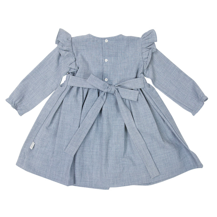 Fine Cable Dress - Grey