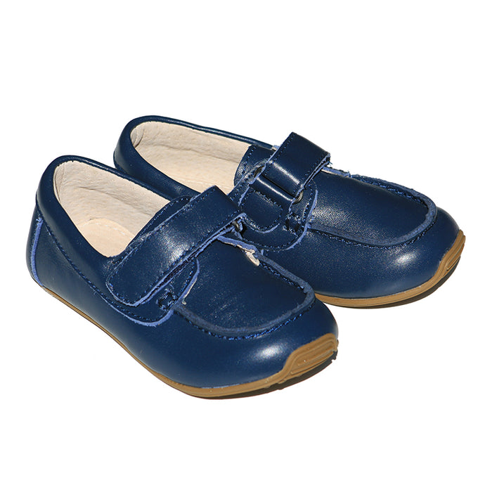 Leather Deck Shoes - Navy