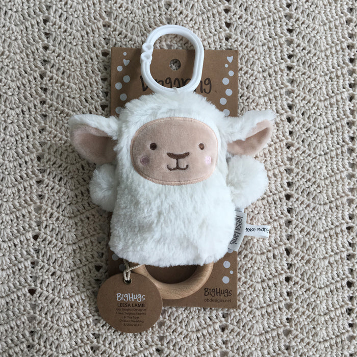 White Lamb Baby Gift Set