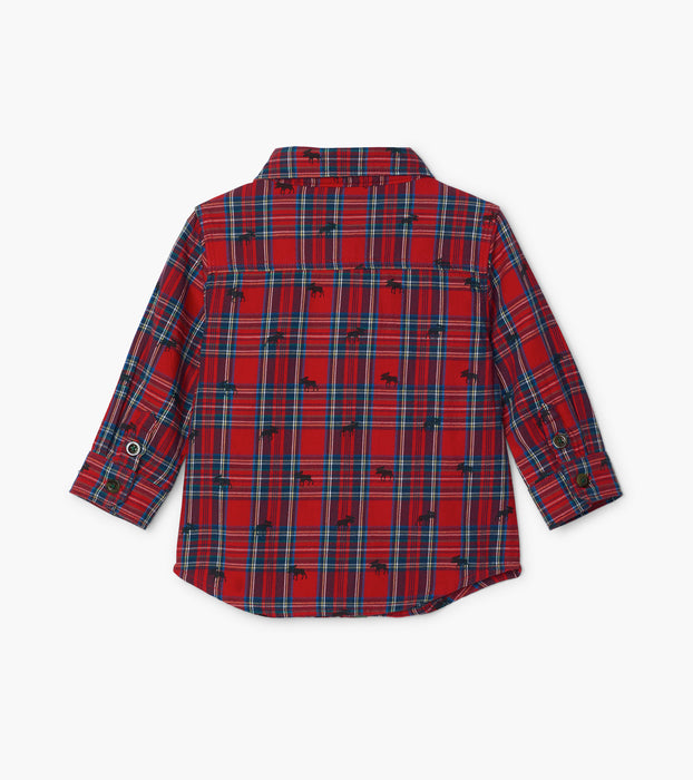 Holiday Plaid Moose Shirt