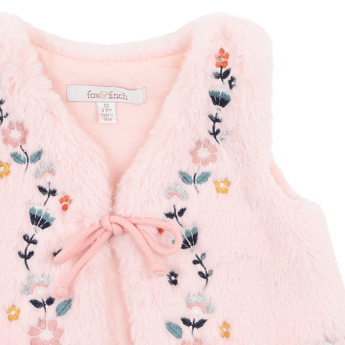 Winter Garden Faux Fur Vest