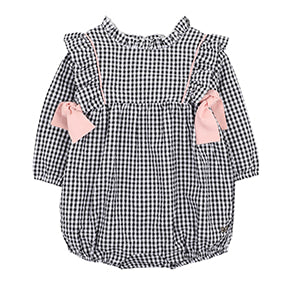 Cotton Tail Check Romper