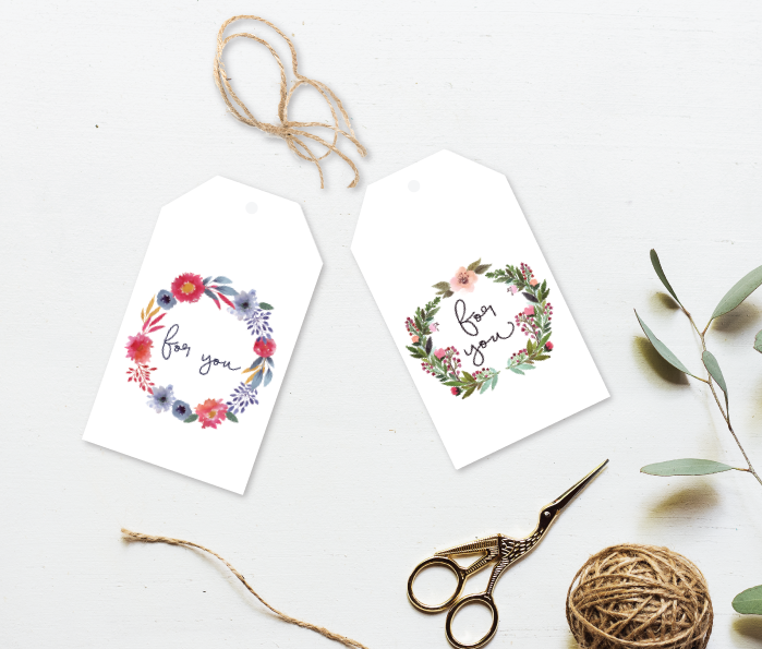 For You Wreath Gift Tag