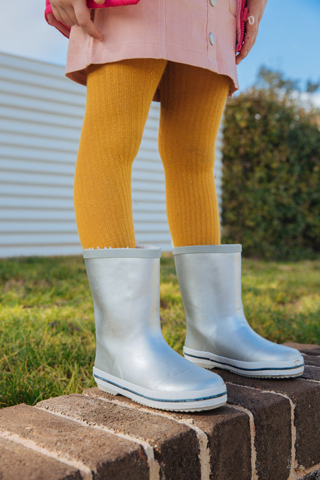 Kid's Rubber Gumboot Silver
