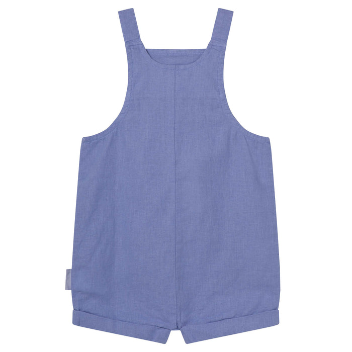 Linen Overalls - Pacific Blue