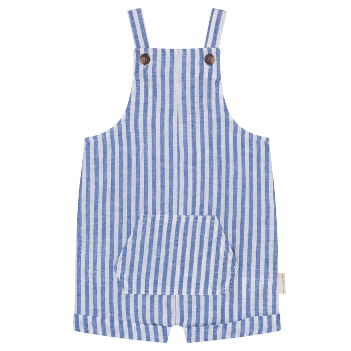 Linen Overalls - Seaside Stripe