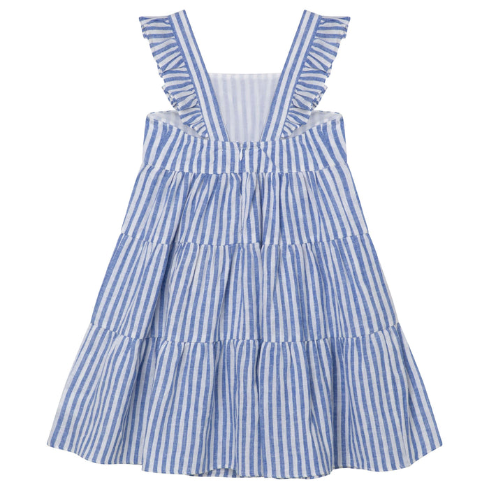 Frill Dress with Straps - Seaside Stripe