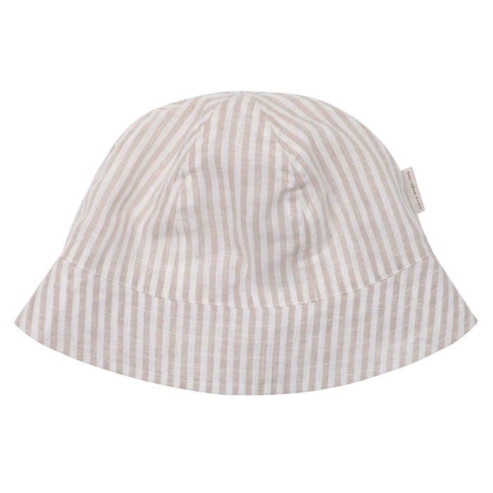 Linen Bucket Hat - Oatmeal Stripe