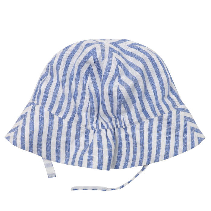 Linen Bucket Hat - Seaside Stripe