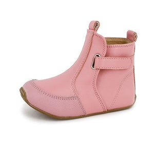 Leather Cambridge Boots - Pink