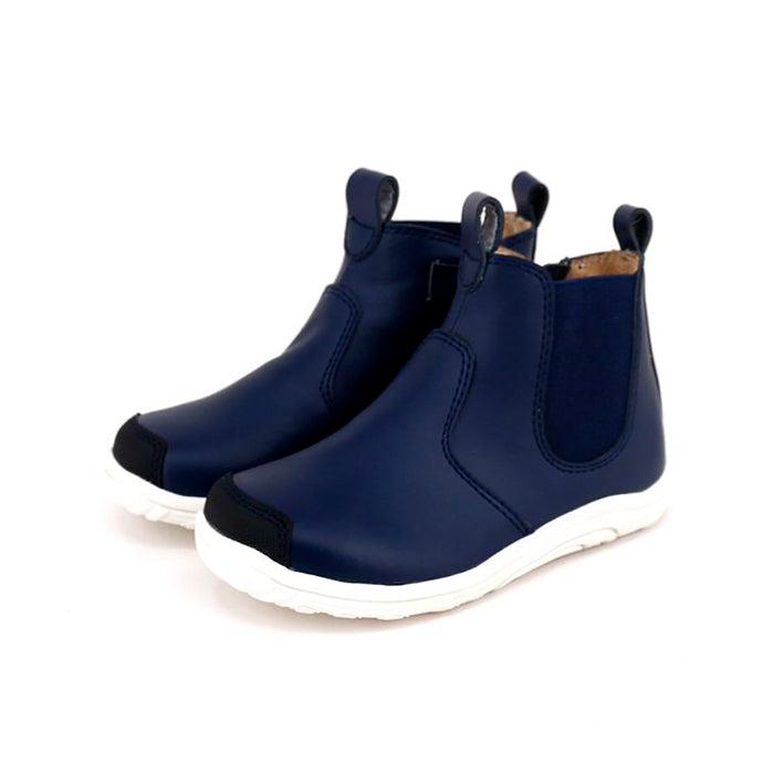 Denver Leather Boots - Navy