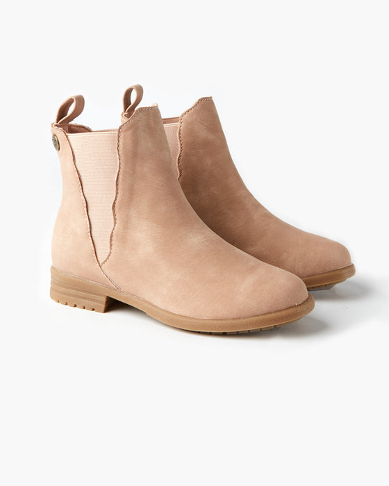 Kendall Scalloped Boot - Dusty Pink