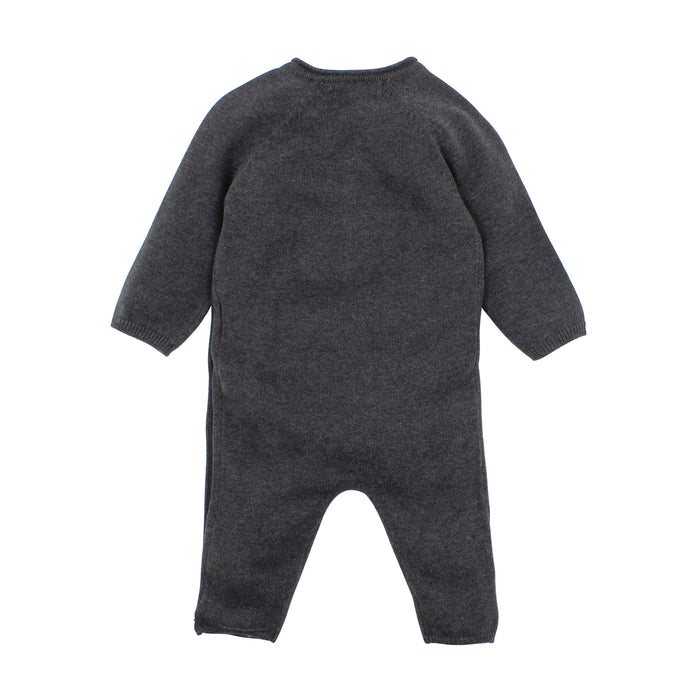 Sheep Knit Romper - Charcoal