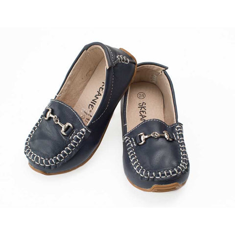 Leather Loafers - Navy