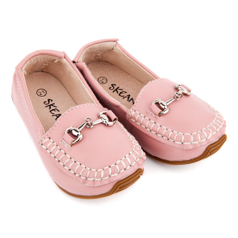 Leather Loafers - Pink
