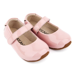 Leather Mary-Jane Shoes - Patent Pink