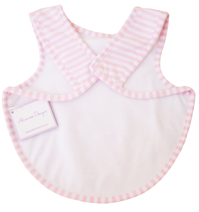Bib - Arm holes back fastening - Pink