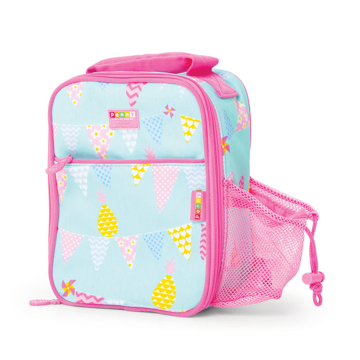 Bento Cooler Bag with Pocket - Pineapple Bunting