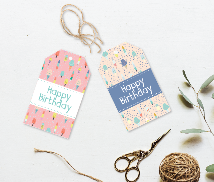 Popsicle Party Gift Tag
