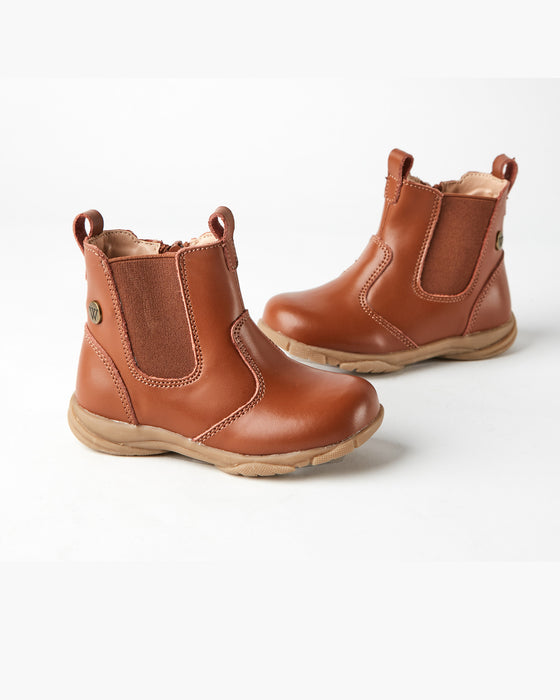 Rodeo Leather Boot - Chestnut