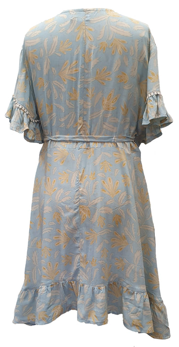 Wrap Dress - Blue Haze