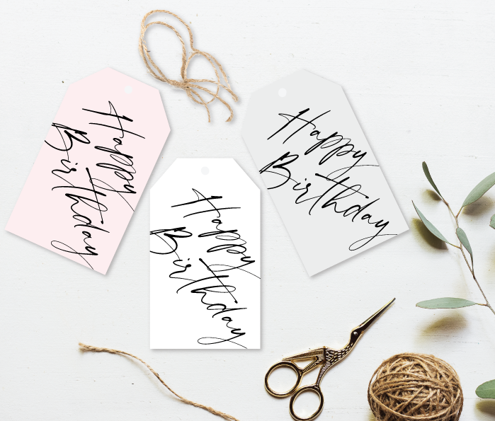 Happy Birthday Gift Tag - Signature Collection