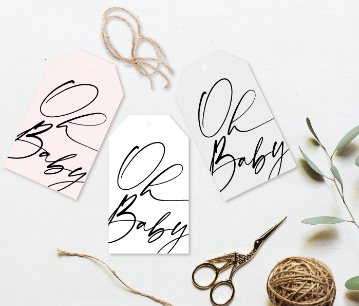 Oh Baby Gift Tag - Signature Collection