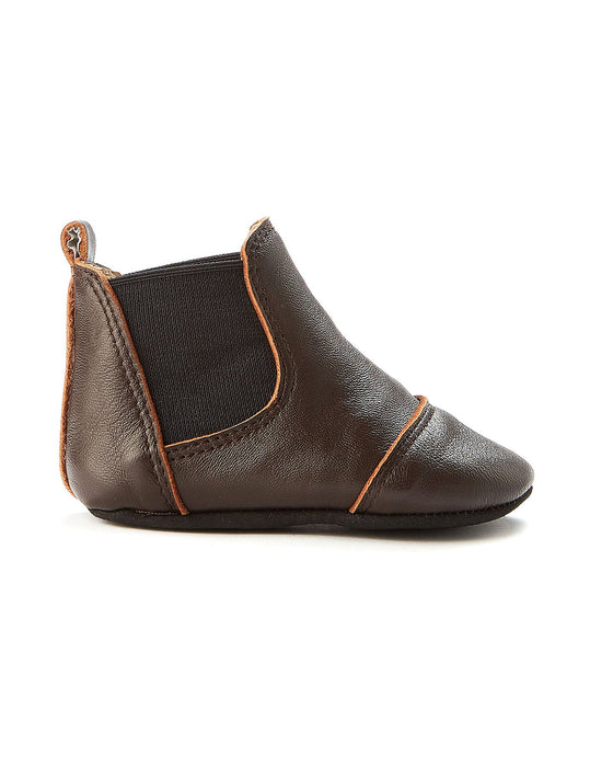 Wilder Leather Bootee - Dark Tan