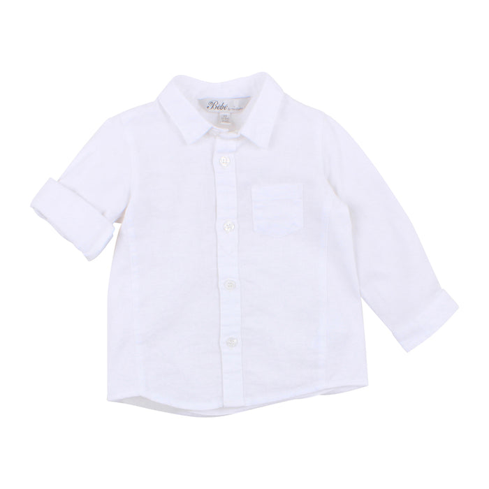 Louis Linen Shirt - Cloud
