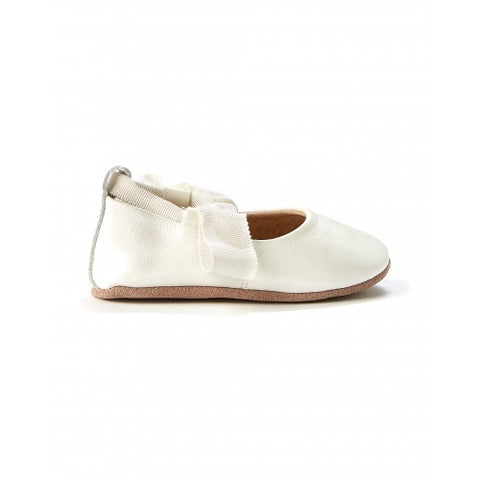 Bonnie Leather Ballet Shoes  - White Pearl