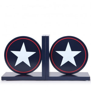 Bookends - Navy Star
