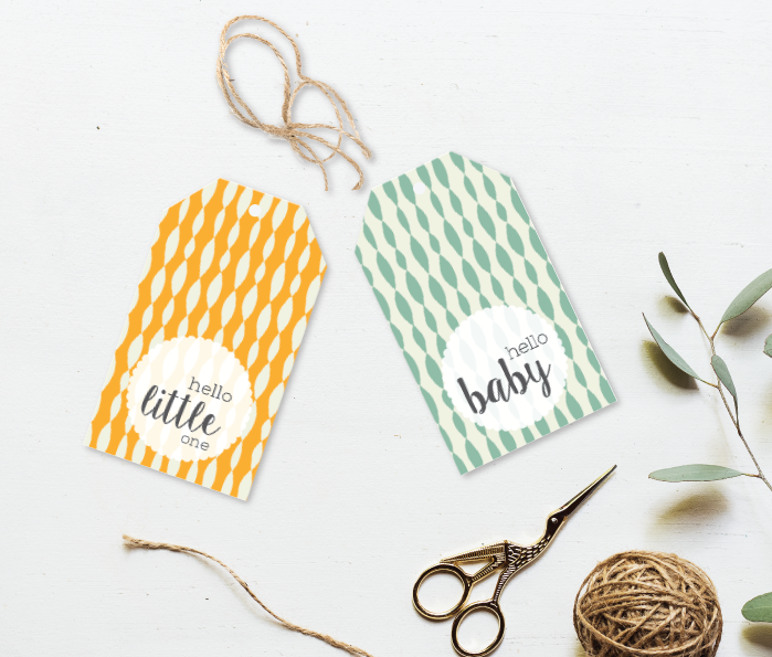 Hello Little One Gift Tag