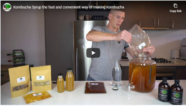 How to brew kombucha using Karl Kombucha syrup