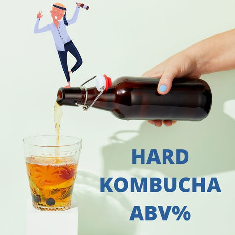 How much alcohol is in my homemade hard kombucha?