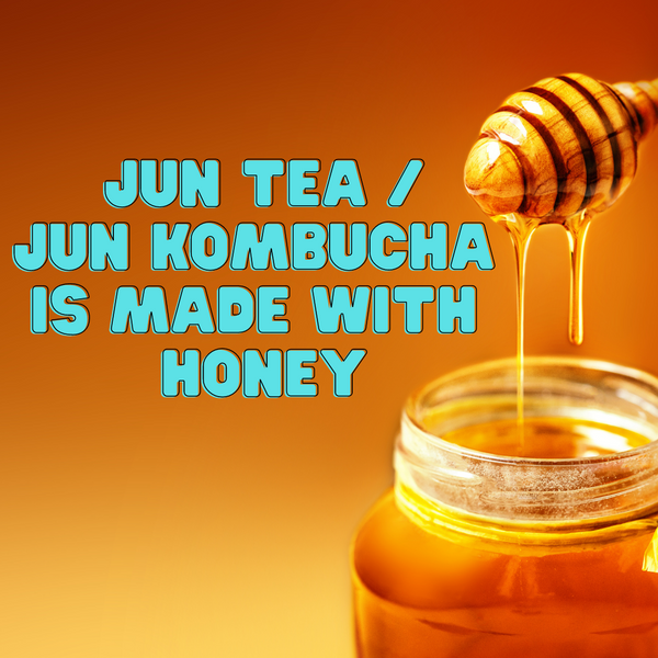 Jun Tea Kombucha is made with honey