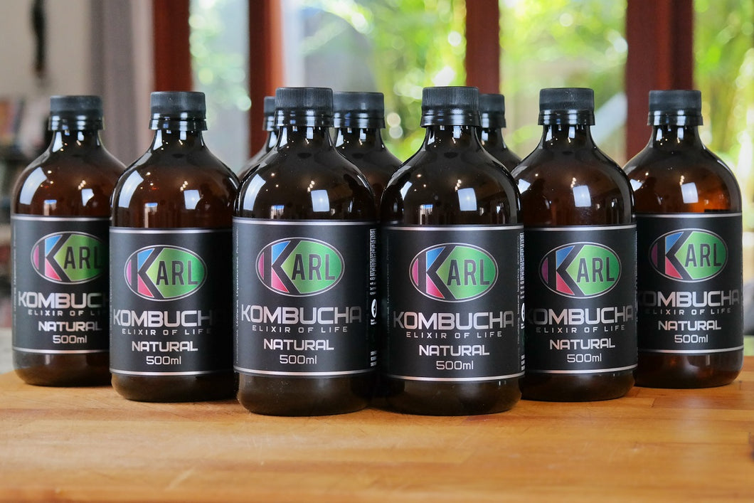 Handcrafted Kombucha, 1 carton, 18 servings in 9 x 500ml bottles