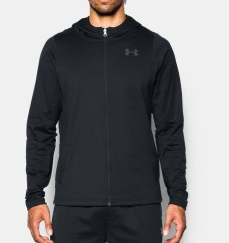 New Under Armour Baseline Zip Up Performance Hoodie Men's XL Black 1302382