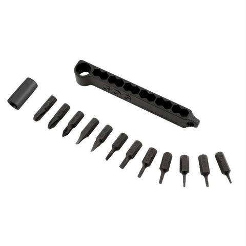 SOG Hex Bit Accessory Kit with 14 Tools Black Oxide